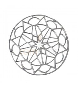 Sterling Silver Star Mandala Connector 24.5mm