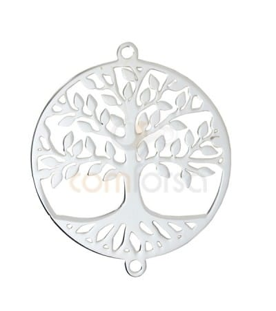 Sterling silver 925 life tree connector 23 mm