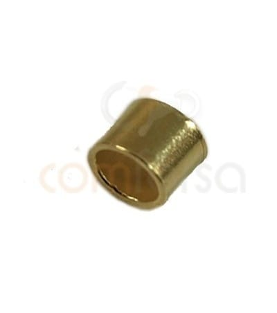 Chafa 2.5x2 mm (2.1 int) plata chapada en oro