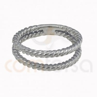 Double thread braided ring...