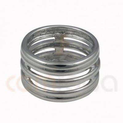 Wide ring with five...